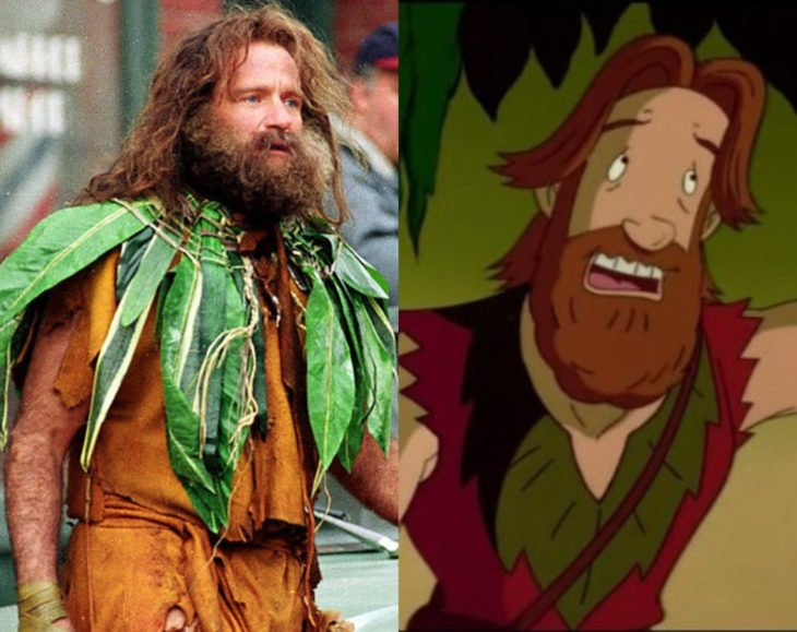 Actores que se parecen mucho al personaje animado que interpretaron; Robin Williams, Alan Parrish, Jumanji