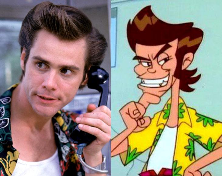 Actores que se parecen mucho al personaje animado que interpretaron; Jim Carrey, Ace Ventura