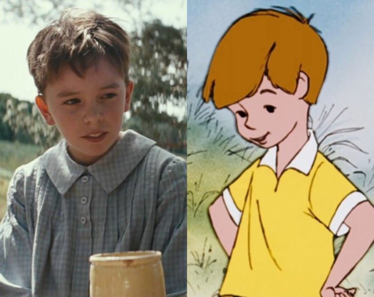 Actores que se parecen mucho al personaje animado que interpretaron; Orton O'Brien, Christopher Robin, Winnie Pooh