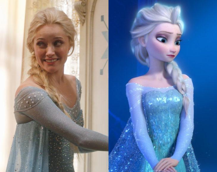 Actores que se parecen mucho al personaje animado que interpretaron; Georgina Haig, Elsa, Once Upon a Time