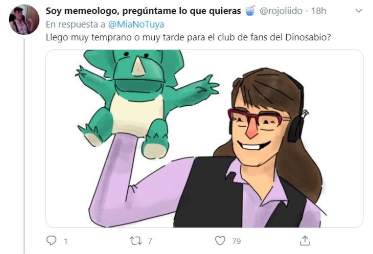 Maestra crea a dinosabio en clases virtuales