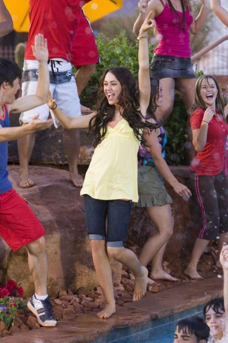Miley Cyrus en la película de High school musical 2