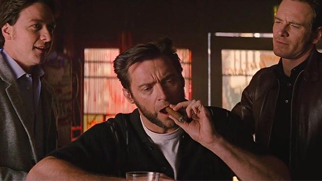 Hugh Jackman en un cameo durante la película X-men primera generación