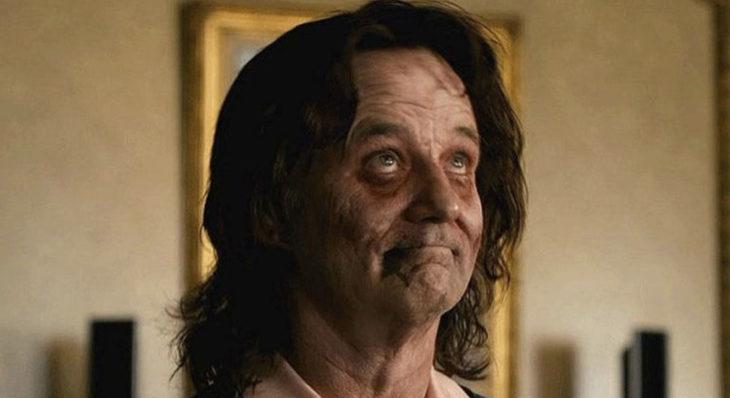 Bill Murray actuando como zombie en la película de zombieland