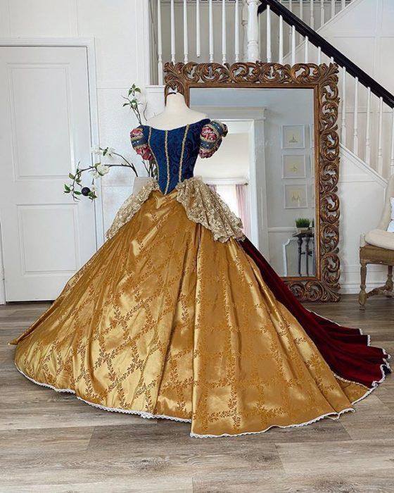 Vestido creado por Nephi García, inspirado en la princesa Disney, Blancanieves