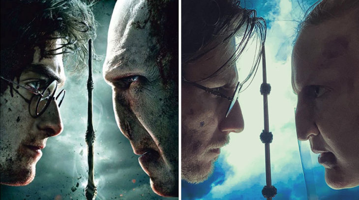 Pareja recreando escena de la película Harry Potter y las reliquias de la muerte