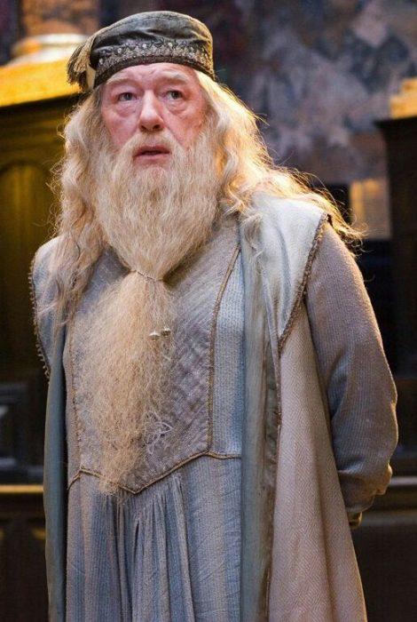 Dumbledore de Harry Potter en una escena de la película