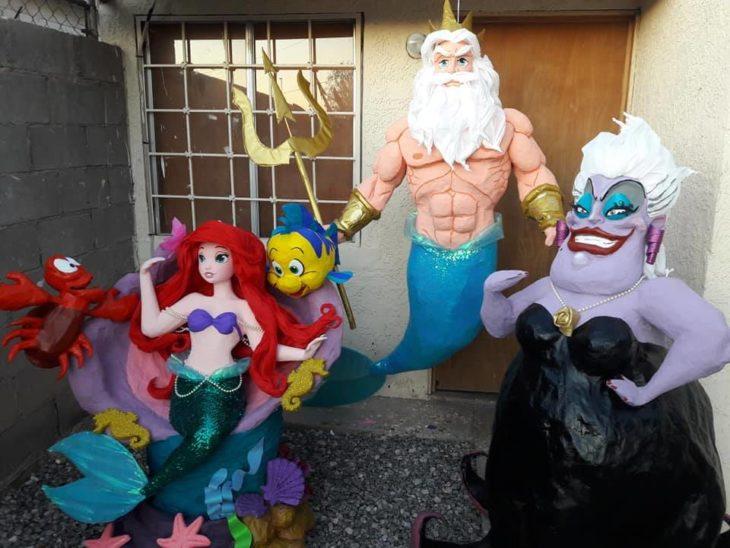 Piñatas de Ariel, rey tritón y úrsula