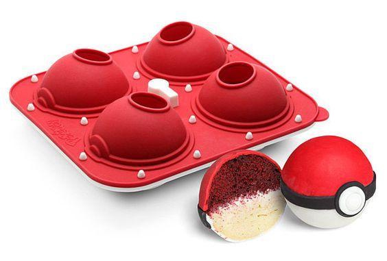 Moldes de silicón en forma de pokebola