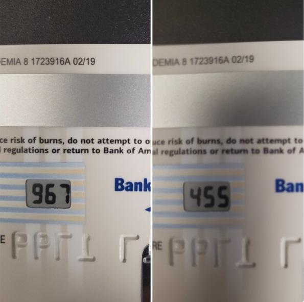 Tarjeta de crédito con dígitos que cambian