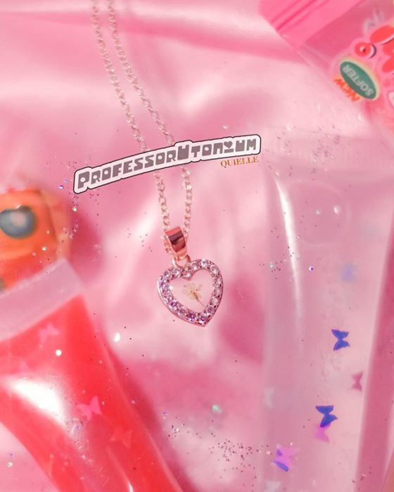 Kyel's necklace inspired by Professor Utonius from the powerpuff girls