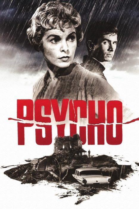 """Póster de la película de misterio """"Psycho"""""""