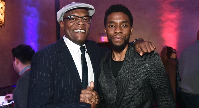 Chadwick Boseman y Samuel L. Jackson