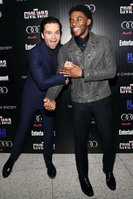 Chadwick Boseman y Sebastian Stan