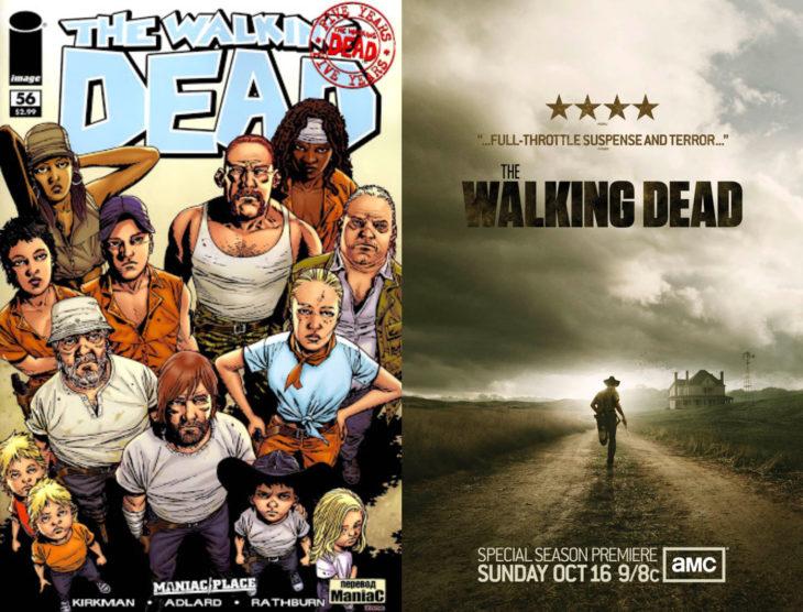 Series y películas basadas en cómics; The walking dead