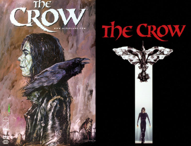 Series y películas basadas en cómics; The Crow, El cervo