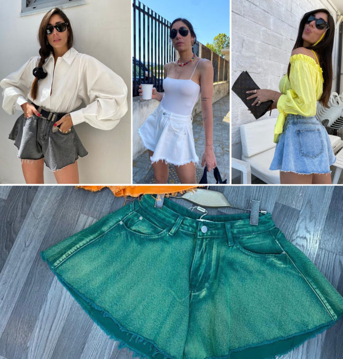 Bell shorts in its different colors