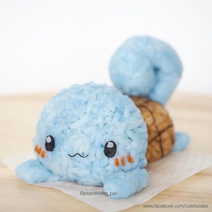 Platillo de comida inspirado en el pokémon Squirtle