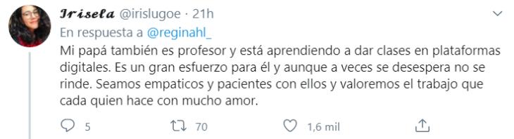 Tuits sobre alumnos que consuelan a su profesor (3)