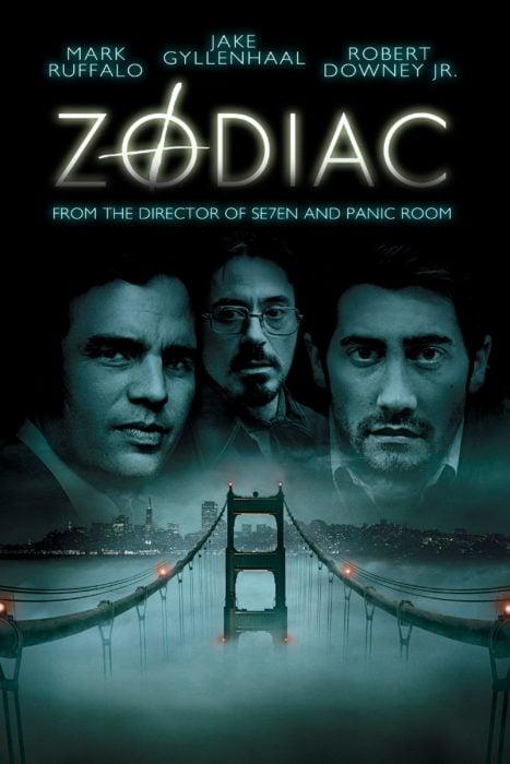 """Póster de la película de misterio """"Zodiaco"""""""
