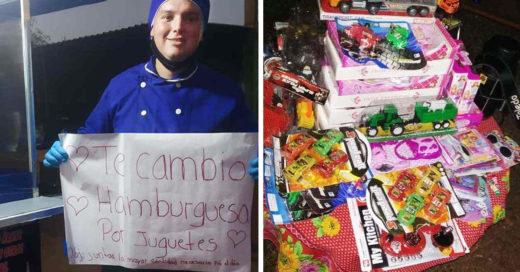 Joven intercambia hamburguesas por juguetes para niños indígenas