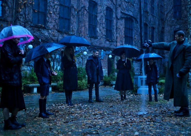 escena de the umbrella academy