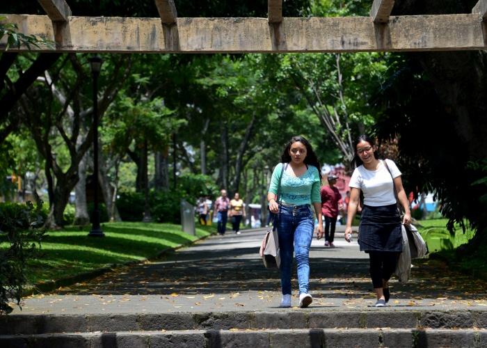 jóvenes y mujeres caminando