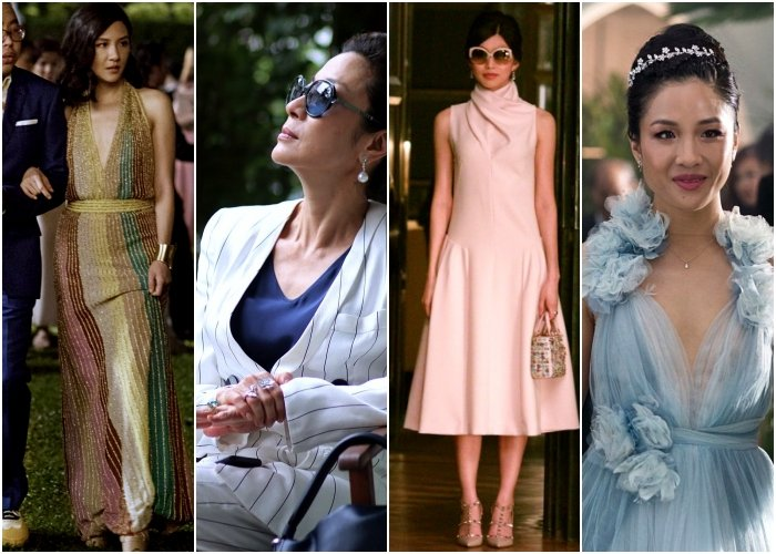 diferentes outfits de la película crazy rich asians