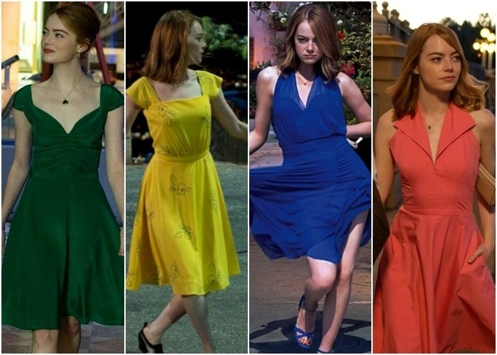different outfits from the movie lalaland
