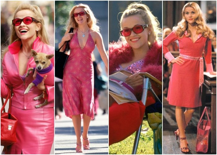 different outfits from the legally blonde movie