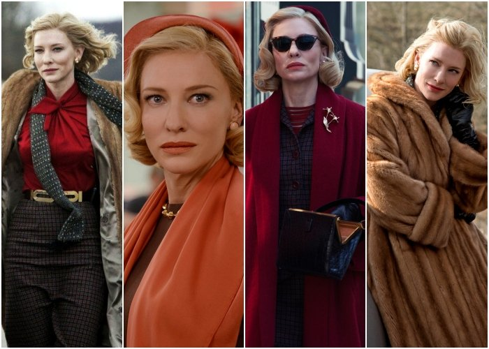 different outfits from the movie carol