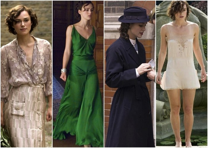 different outfits from the movie atonement