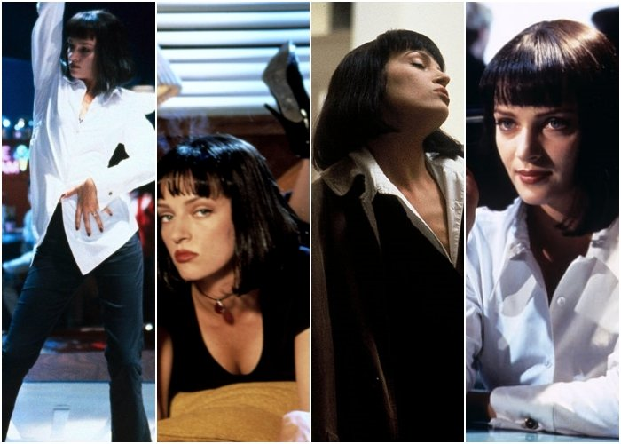 diferentes outfits de la película pulp fiction