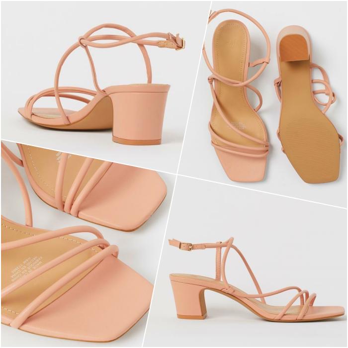 pastel pink heeled sandals
