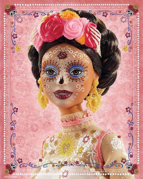 Maquillaje y peinado de Barbie Catrina 2020
