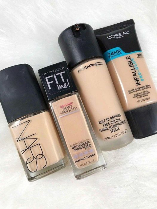 Foundation of different brands