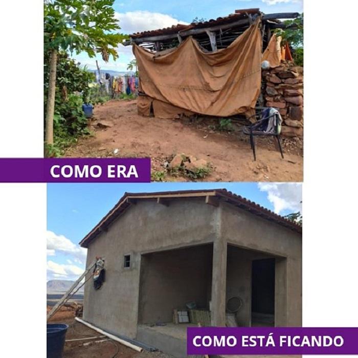 Construcción de la casa de Seu, de como era a como está quedando