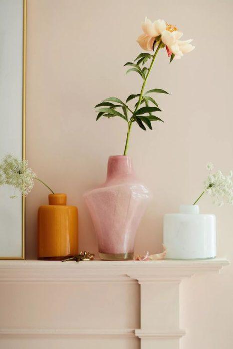 Floreros de diferentes formas, colores y tamaños