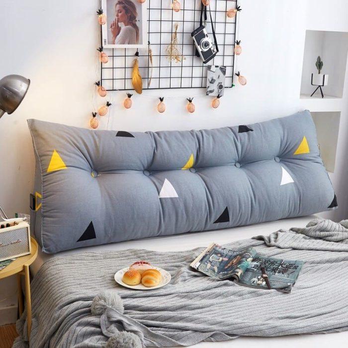 Almohada larga para cama o sofá