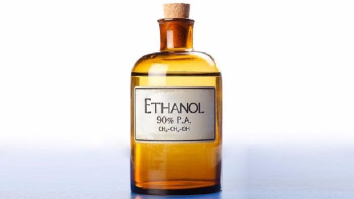 Ethyl alcohol bottle