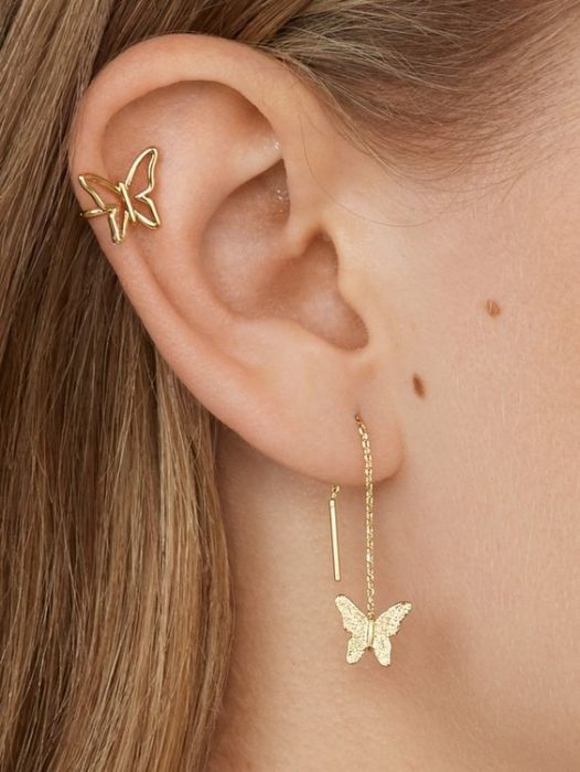 butterfly-shaped earrings; accessories with butterflies to welcome autumn