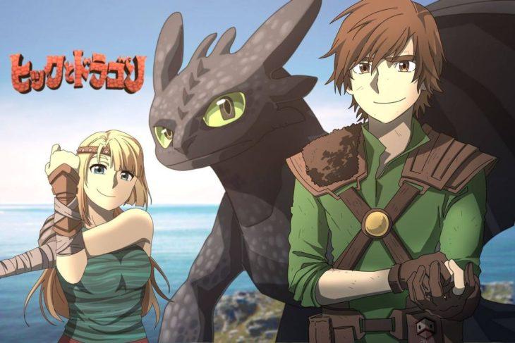 Ilustración de Seth Korbin Ducklord basada en los personajes de Cómo entrenar a tu dragón