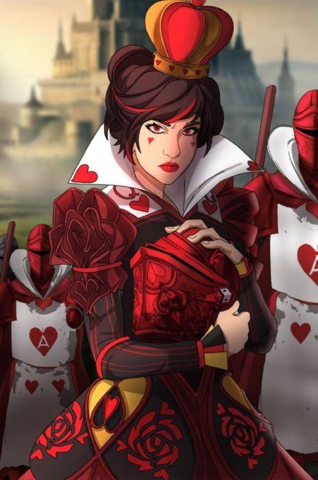 Ilustración de Seth Korbin Ducklord basada en los personajes de La reina de corazones