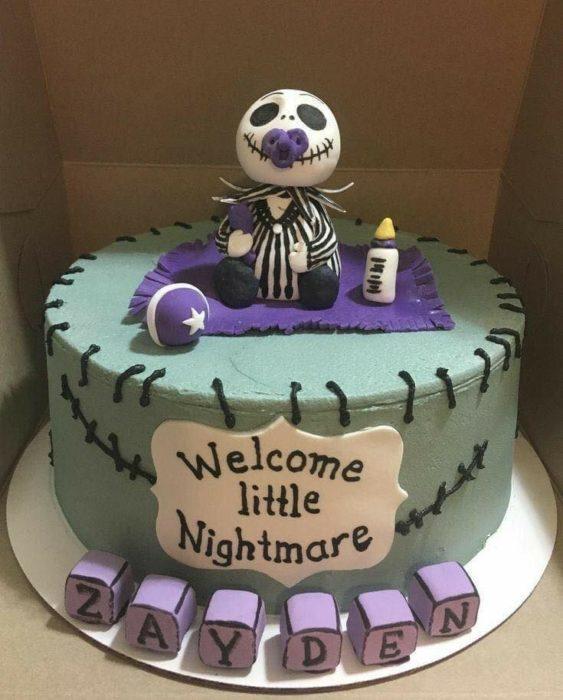 Pastel baby shower de El extraño mundo de Jack