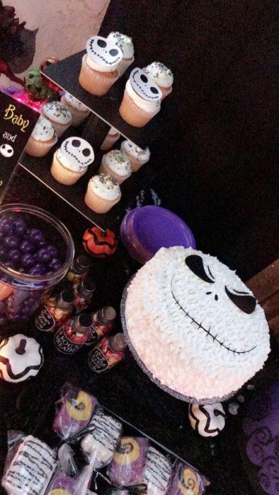 Mesa de dulces para baby shower deEl extraño mundo de Jack