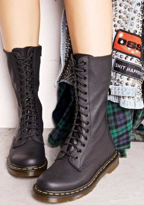 Dr. Martens tall boots in black