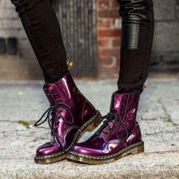 Dr. Martens boots in purple