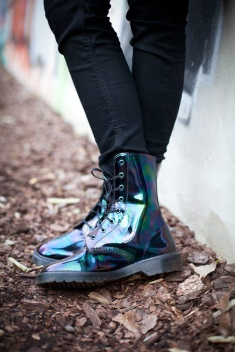 Dr. Martens boots with litmus effect