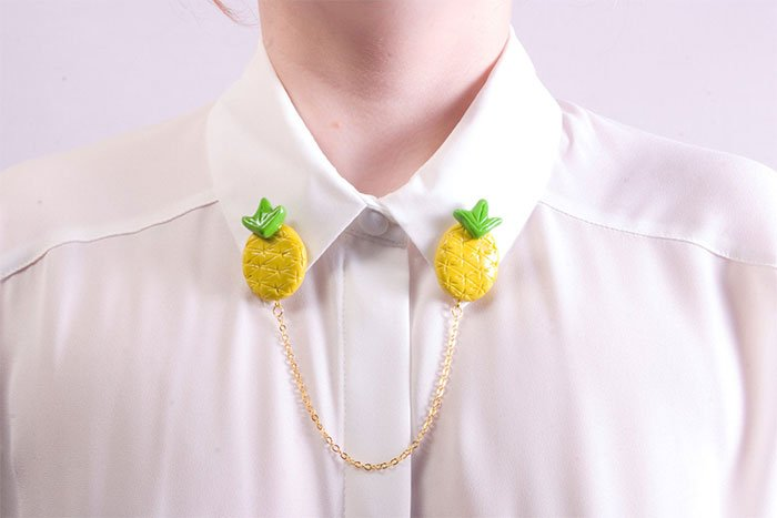 Pineapple shirt brooch