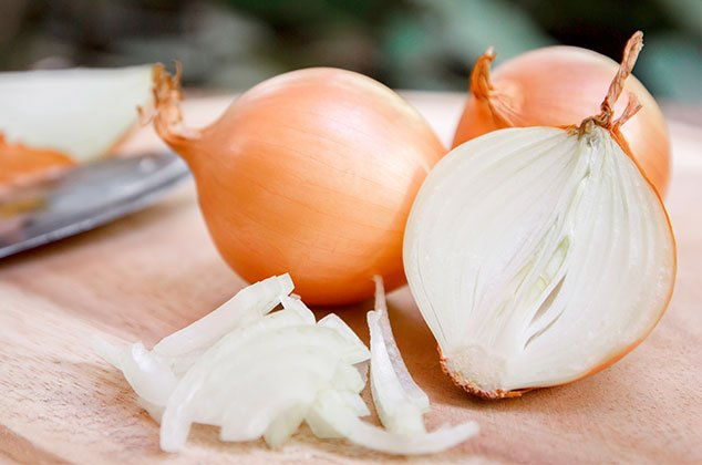 Onion cut into slices